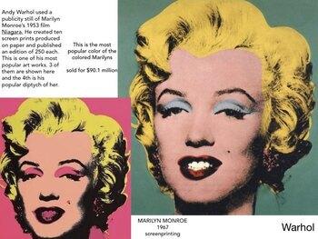 Pop Art History Presentation ~ 210 Slides ~ Highly Visual