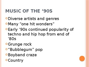 Pop Music 105 - Music of the 1990s