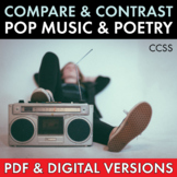 Pop Music Song Lyrics and Classic Poetry, Compare & Contrast Poems, CCSS
