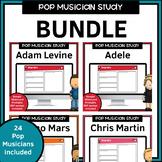 Pop Musician Worksheets Bundle