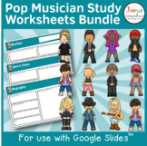 Pop Music Study Bundle for use with Google Slides
