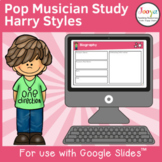 Pop Music Study for use with Google Slides   Harry Styles