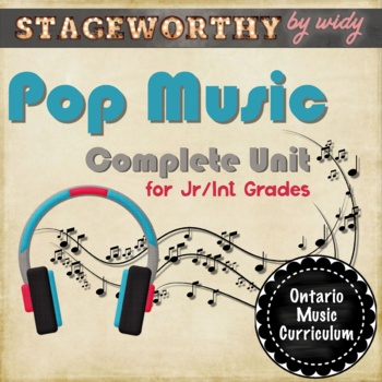 Pop Music Unit: 12 Lessons on The Musical Elements Found in Pop Music