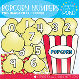Popcorn Numbers Clipart