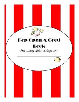 Pop Open A Good Book Folder Cover