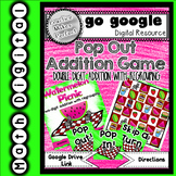 Pop Out!  Double Digit Addition with Regrouping Game Digital Resource
