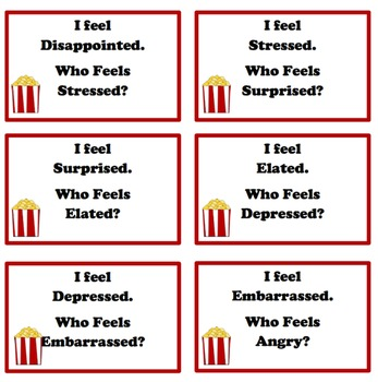 Pop, Pop, Popcorn: Feelings Activity Pack (includes Power Point)