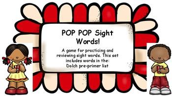 Pop Pop Sight Words- Pre-Primer List