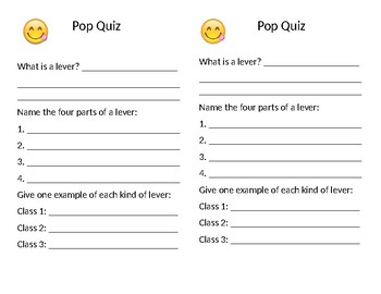 Pop Quiz for Lever Unit