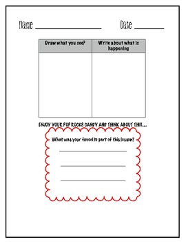 Pop Rocks Candy Science Fun beginning end of year activity sub plans substitute