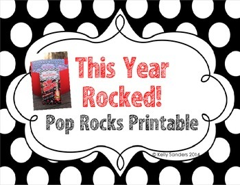 photograph relating to Printable Pop by Tags titled Pop Rocks Conclusion of Calendar year Reward Tags