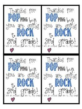 Pop Rocks (or popcorn) Freebie- 3rd Grade