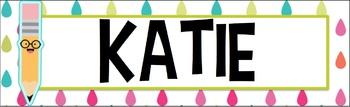 Pop School Desk Name plates labels
