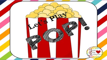 Pop! Simple flashcard game for Morning Meeting activity