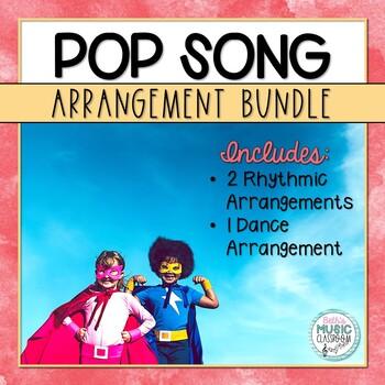 Pop Song BUNDLE! Orff & Folk Dance for BRAVE/FIGHT SONG!