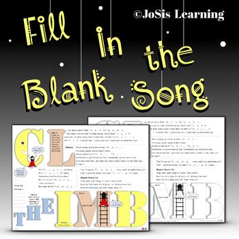 Pop Song Worksheet