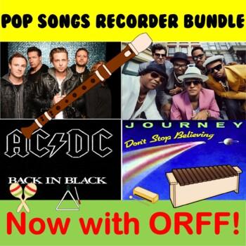 Pop Songs Recorder Bundle