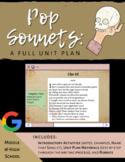Pop Sonnets: A Unit Plan (editable)