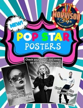 Pop Star Classroom Poster Pack!
