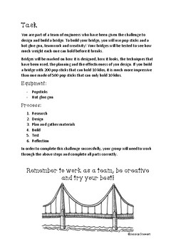 Pop Stick Bridge Building Challenge
