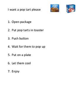 Pop Tart steps