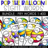 Pop The Balloon! Fry Words 1-400 Sight Word Game Bundle