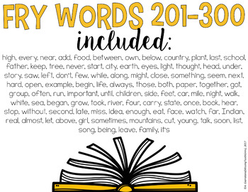Pop The Balloon! Fry Words 201-300