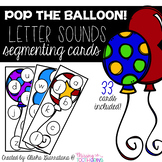 Pop The Balloon! Segmenting Letter Sound Cards