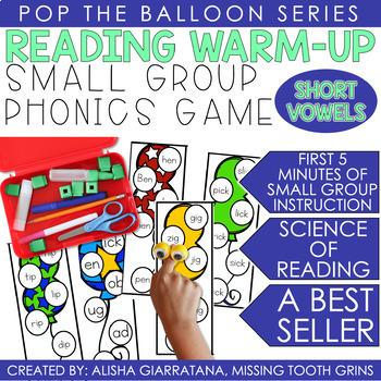 Pop The Balloon! Segmenting Short Vowel Cards
