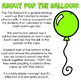 Pop The Balloon! Subtraction Facts