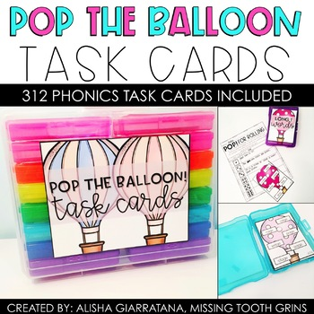 Pop The Balloon! Phonics Task Cards