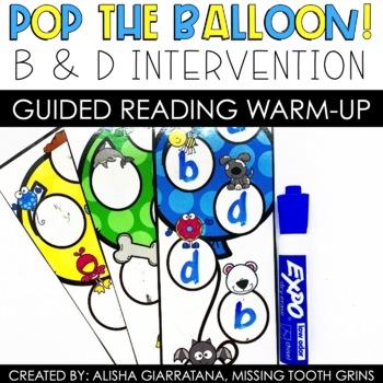 Pop The Balloon! b/d Letter Reversal