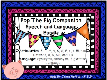 Pop The Pig Companion: Speech and Language Bundle