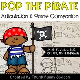 Pop The Pirate - Articulation Activity & Game Companion