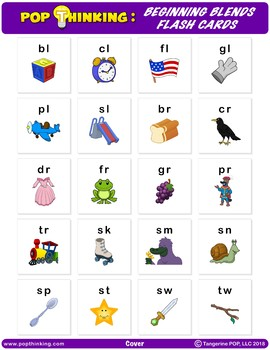 Pop Thinking: Flash Cards - Beginning Blends