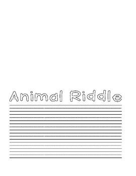 Pop Up Animal Riddle