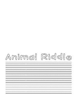 Pop Up Animal Riddle