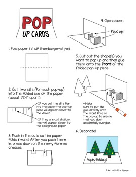 Pop-Up Card Directions Freebie