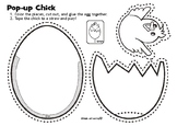 Pop-Up Chick Easter Craft