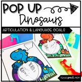 Speech and Language Therapy Craft: Pop Up Dinosaurs