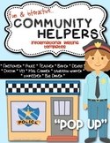 {Pop Up} Informational Writing - Community Helpers Kindergarten or First Grade