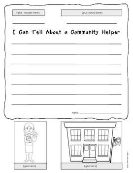 {Pop Up} Informational Writing - Community Helpers Kindergarten or First Grade