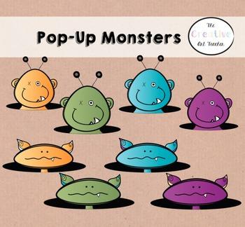Pop-Up Monster Clipart Set