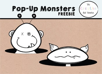 Pop-Up Monsters Clipart FREEBIE