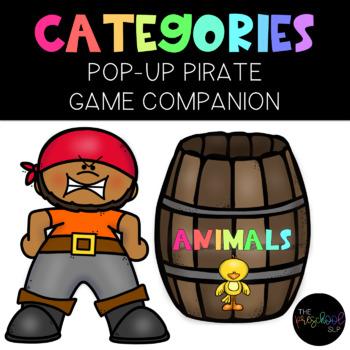THE PRESCHOOL SLP: Poppin' Pirate Categories