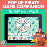 Pop Up Pirate Game Companion for Speech and Language - No Print & No Prep