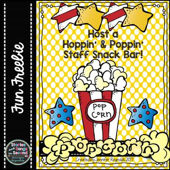 Pop Up Some Super Staff Morale! {FREEBIE}