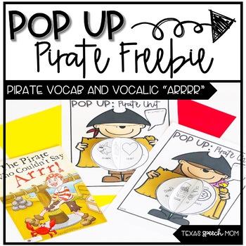 Pop Up Speech and Language Craft: Pirate Freebie