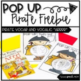 Pop Up Speech and Language Craft: Pirate Freebie
