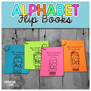 Alphabet Activities, Alphabet Flip Books